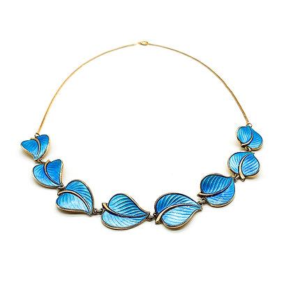 Silver Gilt Enamelled Leaf Necklace (Sold)