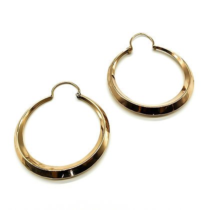 Vintage 18ct Rose Gold Hoop Earrings (Sold)