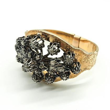 Victorian 18ct Gold and Silver Bangle Diamonds (P.O.R.)