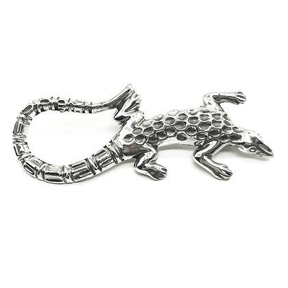Silver Mexican Lizard Brooch