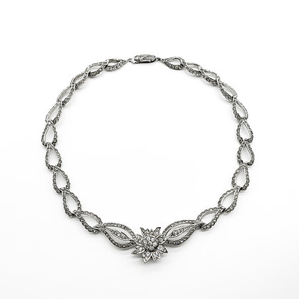 Silver Paste Necklace