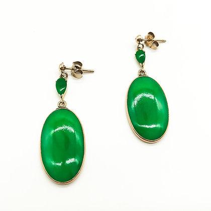 Vintage 14ct Gold and Jade Drop Earrings (Sold)