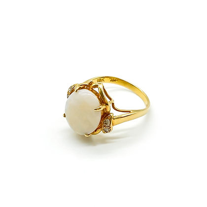 18ct Gold and Opal Diamond Ring (Sold)