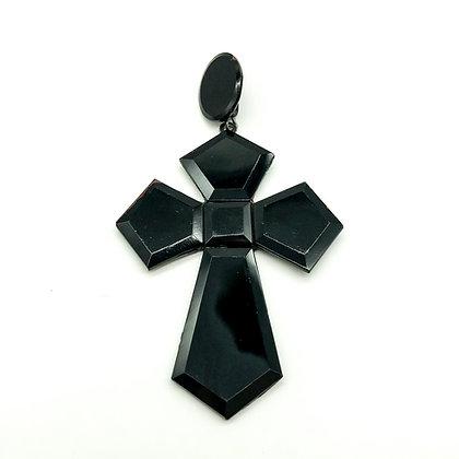 Victorian Vauxhall Glass Cross