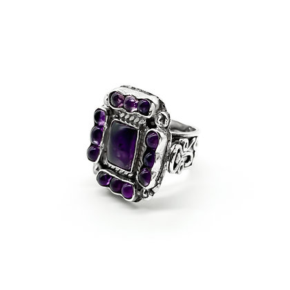 Mexican Silver Amethyst Ring