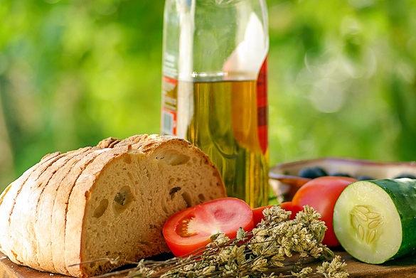 Pain frais Huile d'Olive