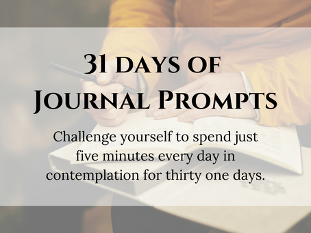 31 Days Of Journal Prompts
