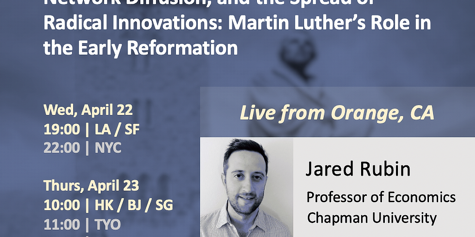 Quantitative History Webinar Series on Martin Luther's Role in the Early Reformation