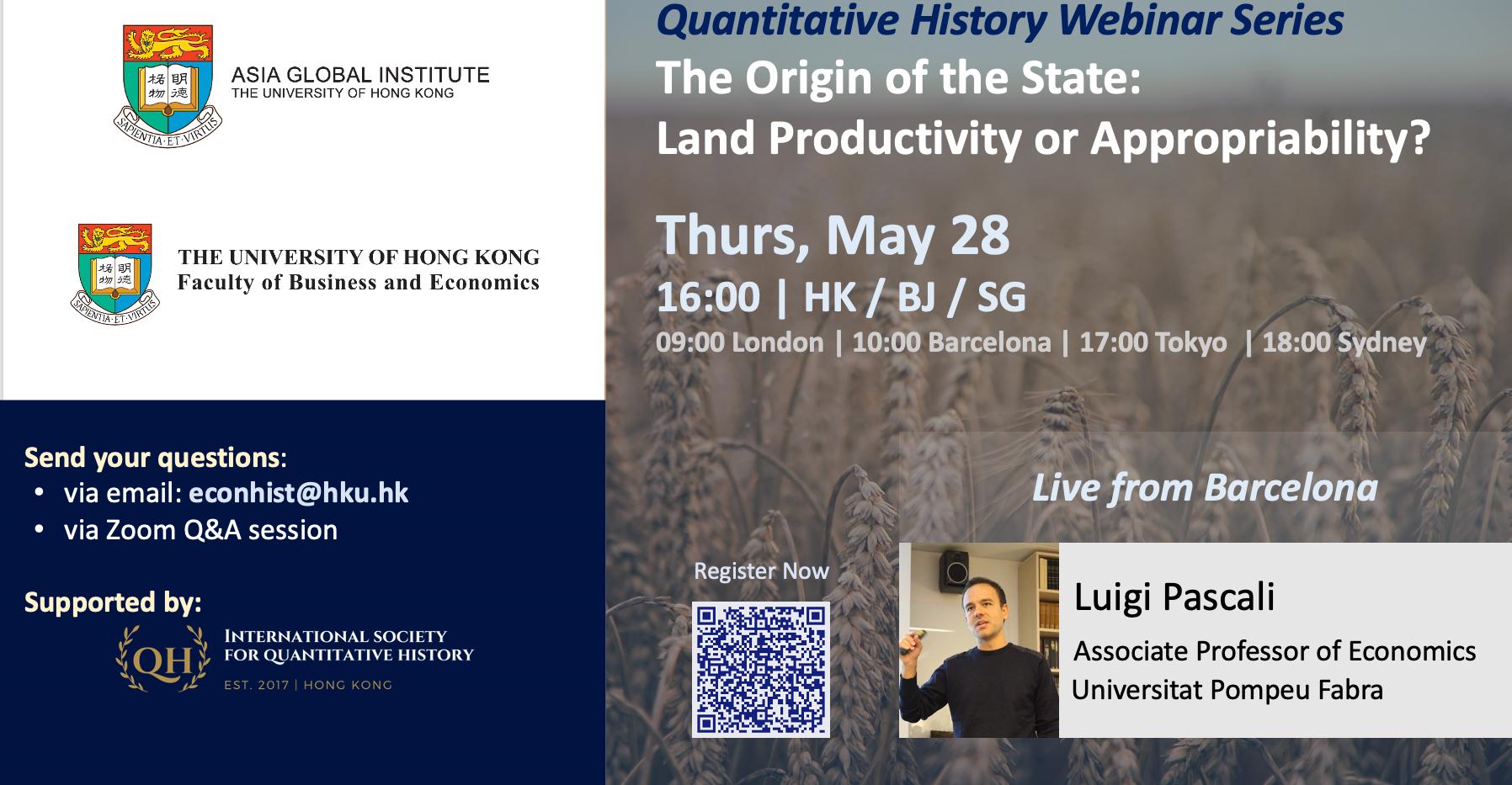 Quantitative History Webinar Series_May