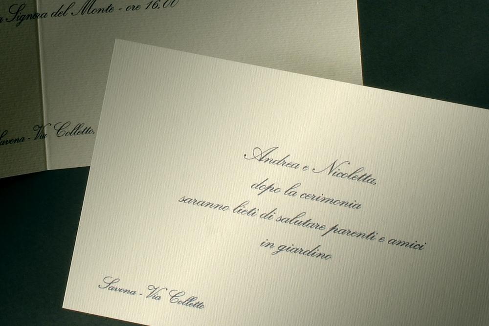 Partecipazione matrimonio con invito