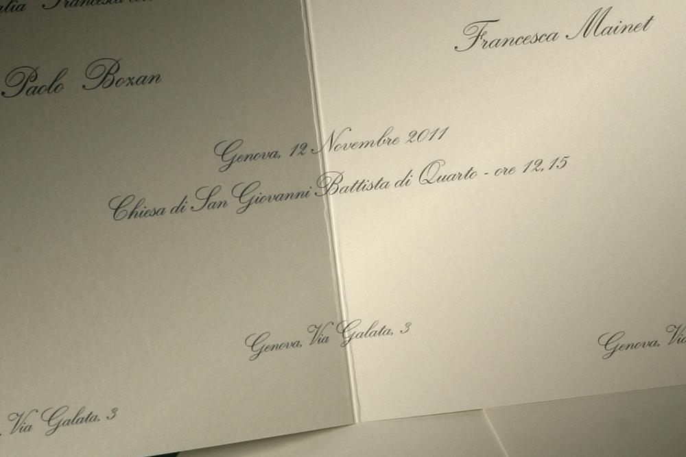 Partecipazioni Matrimonio Genova.Partecipazioni Matrimonio Classiche