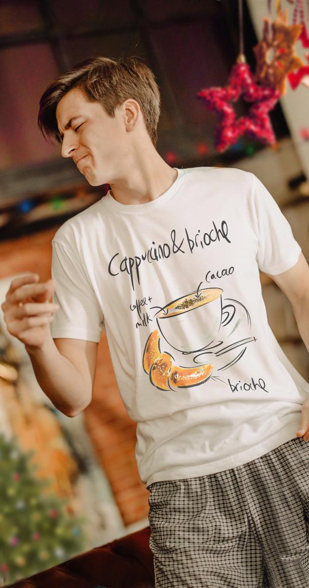 Cappuccino t shirt uomo online originale Tarluc - idea abbigliamento mare uomo