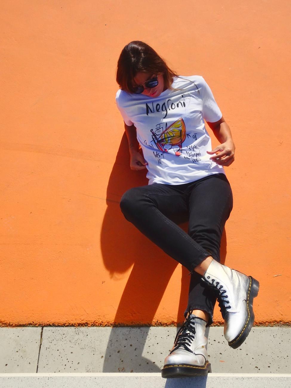 T-shirt con scritte Cocktail Negroni - Tarluc