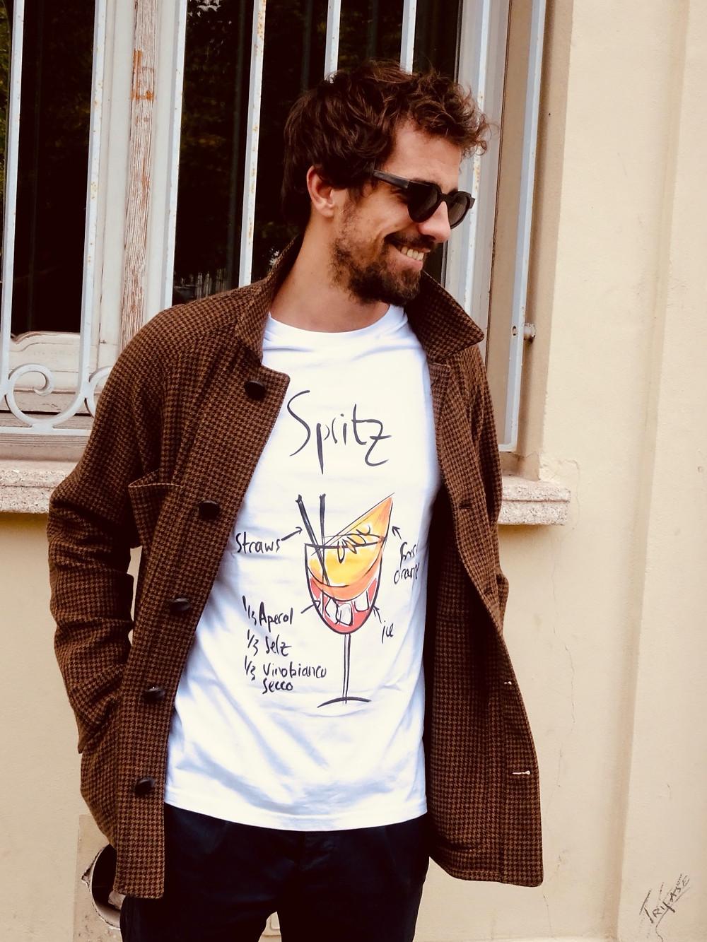 Spritz t shirt uomo online originale Tarluc - idea t shirt addio al celibato