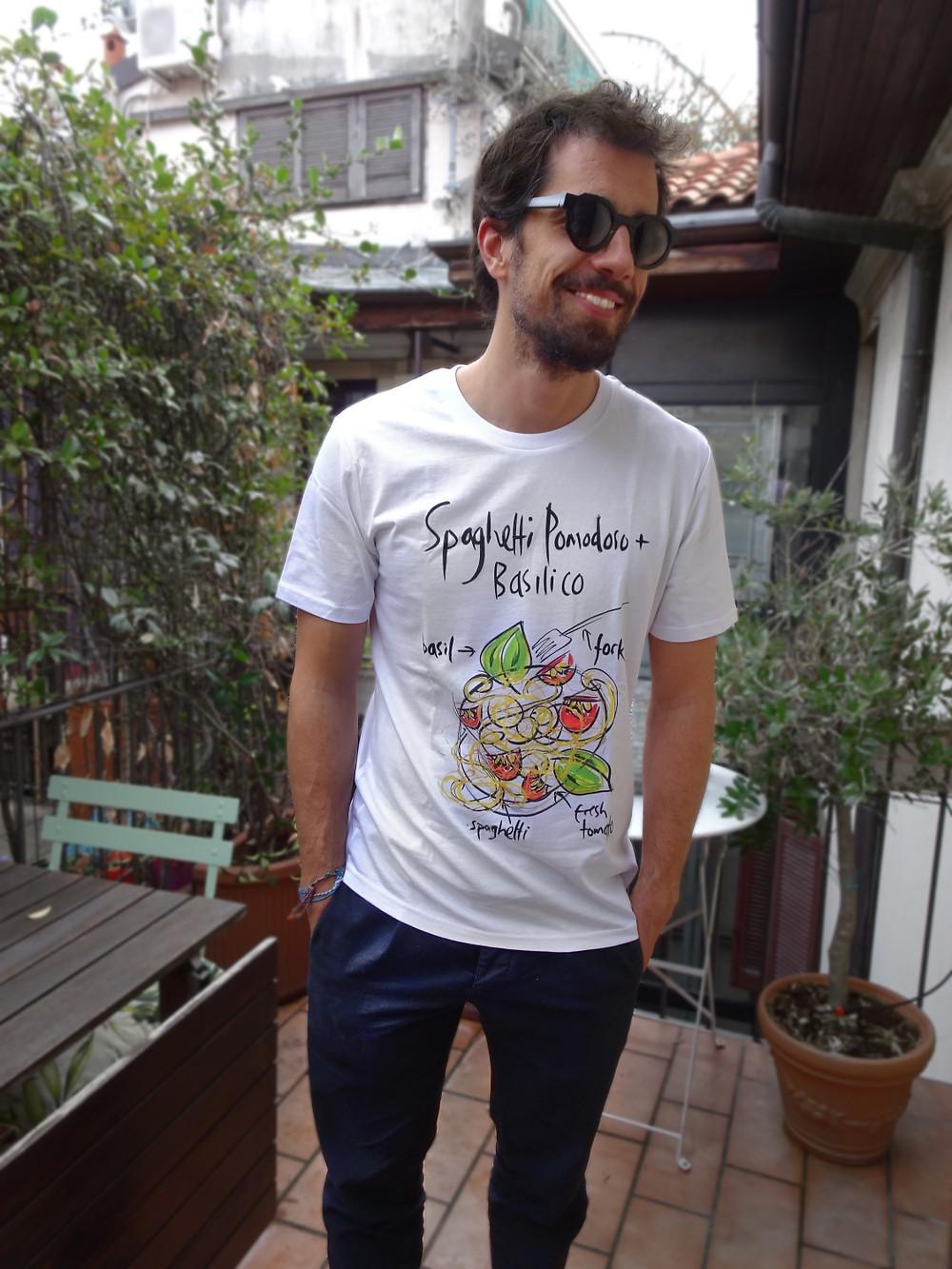 Spaghetti t shirt uomo online Italian style
