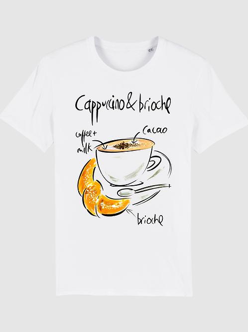 T-shirt Cappuccino & brioche maniche corte - cotone organico