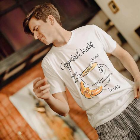 maglietta con scritte cappuccino - italian style