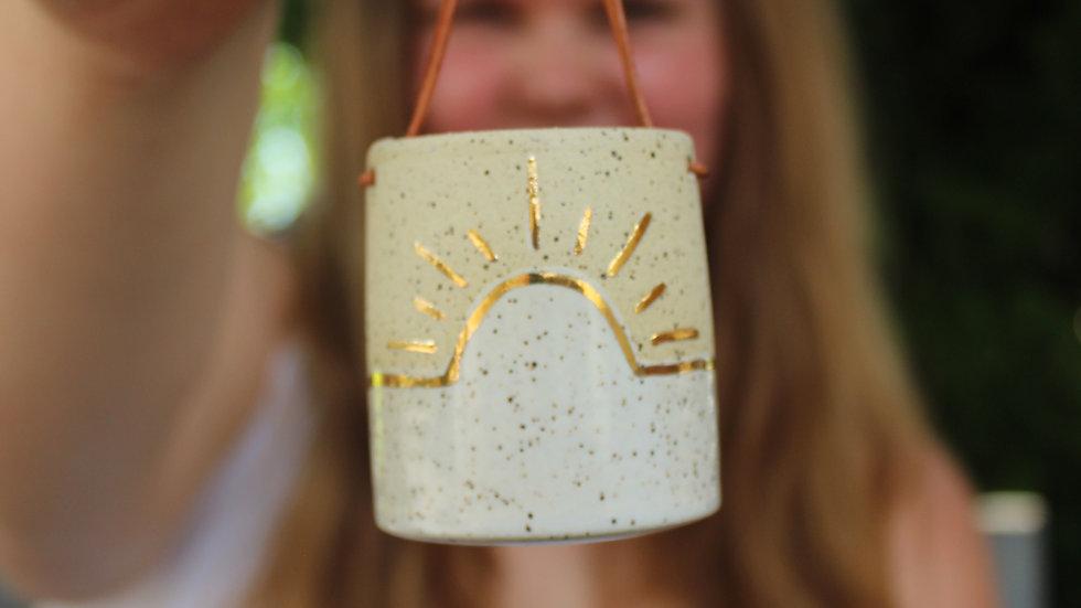 Mini Hanging Planter - Golden Sun