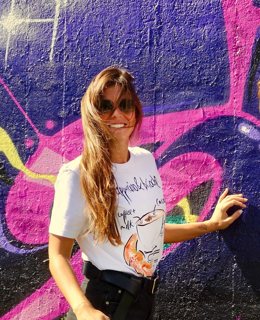 T-shirt con scritte cappuccino - tarluc