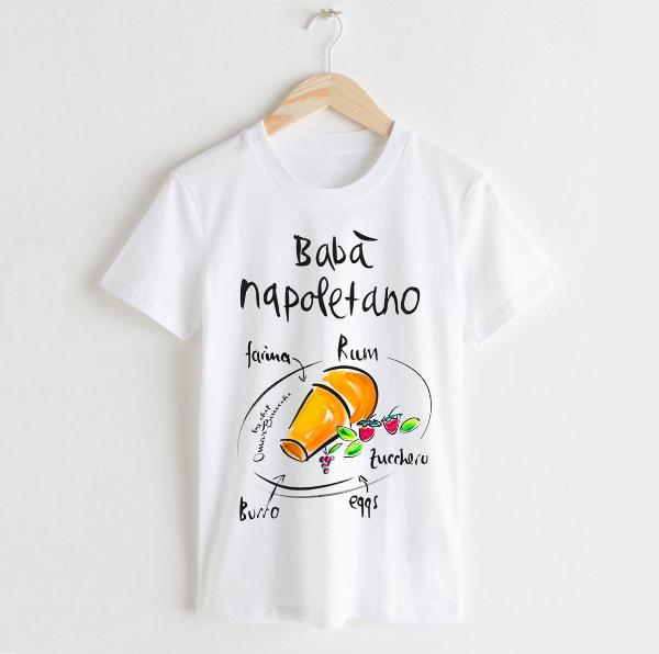 Babà napoletano t shirt uomo online originale Tarluc - idea abbigliamento mare uomo
