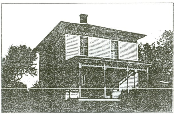 Church parsonage, prior to the addition of kitchen and bathroom, located at 169 W. Main Street.