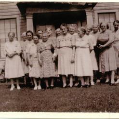 Women's Fellowship, 1945 at the home of Ruie Brown Cheek.