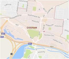 Map of Cosham