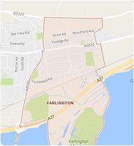 Map of Farlington