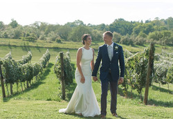 Jackie and Aaron in the vines