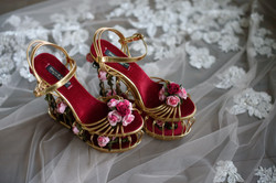 Fantasy Wedding Birdcage Bridal Shoes