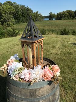 Altar on wine barrel