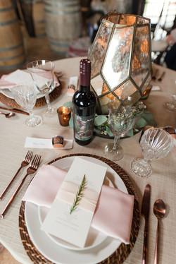Formal table Rustic setting