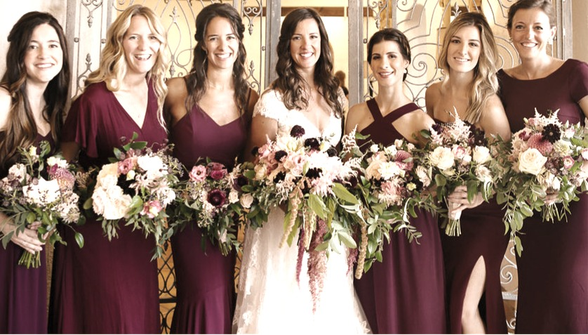 Becca and her bridesmaids