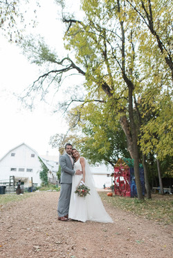 I Do barn wedding