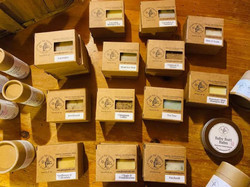 Hand poured locally made soaps