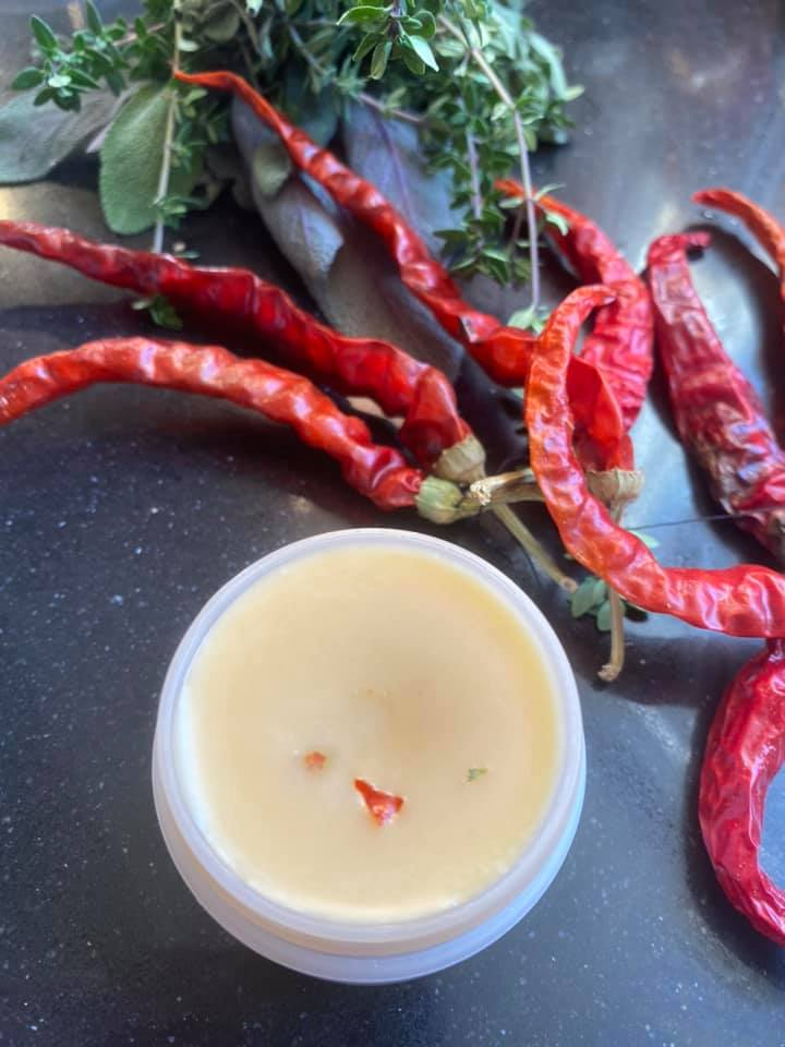 Organic Cayenne ginger Arthritis Balm we make