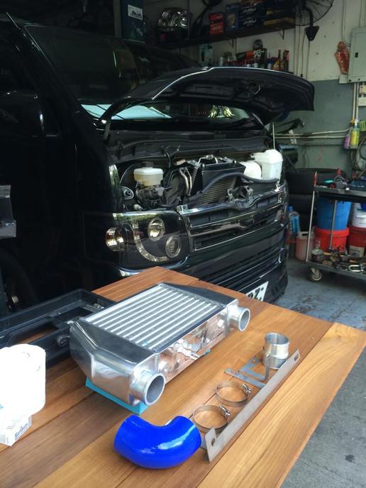 HDi GT2 intercooler kit for Toyota Hiace 200 1kd/2kd-12