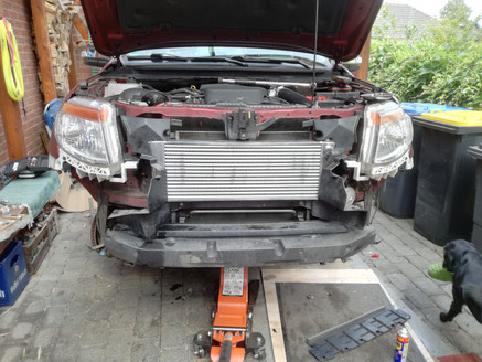 HDi Ford Ranger px1,2,3 & Mazda BT-50 Intercooler kit &ATF cooler kit-16