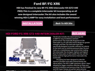 New  Website For HDi Ford  BF/FG XR6 GT2 440 Intercooler Kit
