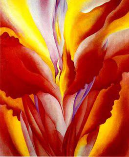 Flores de Gerogia O'Keeffe - Cana Roja