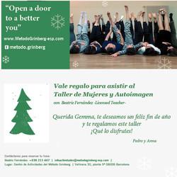 16-12-01 Vale regalo Taller Mujeres y Autoimagen