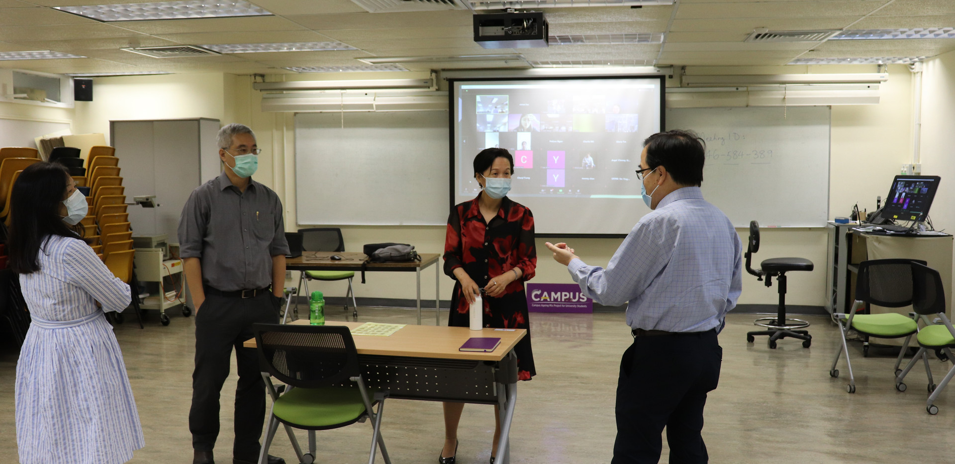 """[Virtual lecture] HKU MSc Urban Planning students learning ageing and discussing age-friendlinesswith """"Senior Champions"""" (September21, 2020)"""