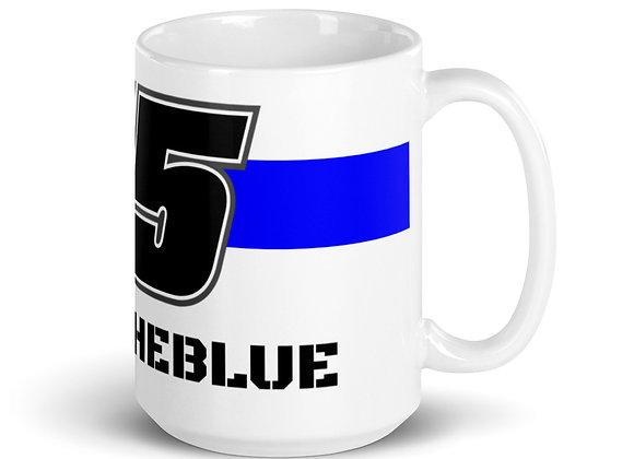 #BACKTHEBLUE - 45 - White glossy mug