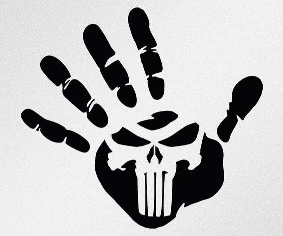 Punisher Skull in Hand