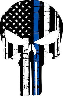 Blue Line Punisher Skull