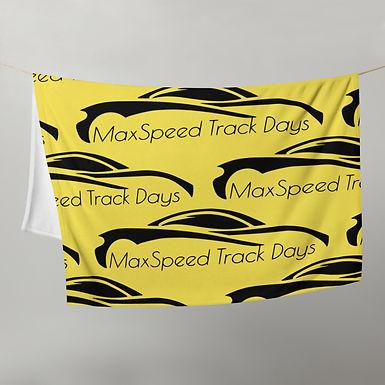 MaxSpeed Track Days Yellow Throw Blanket