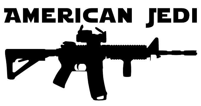 American Jedi Vinyl Decal