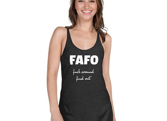 Late Model Mafia - FAFO Women's Racerback Tank