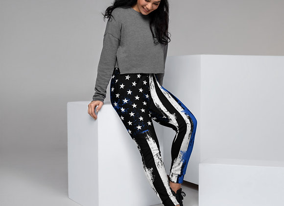 13 - Back The Blue Women's Joggers