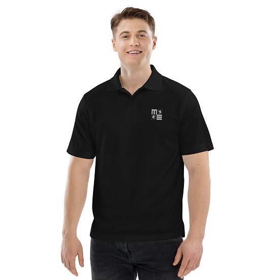 Brad Wood - Men's Champion performance polo (Black & White Logo)